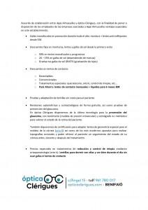 Acuerdo de colaboración entre Appi y óptica Clérigues-001